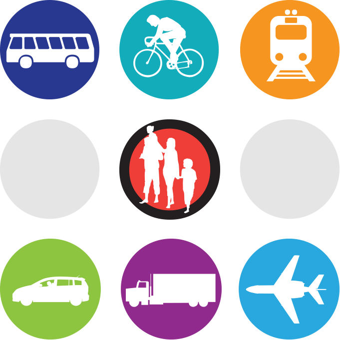 Picture - Icons representing different modes of transportation